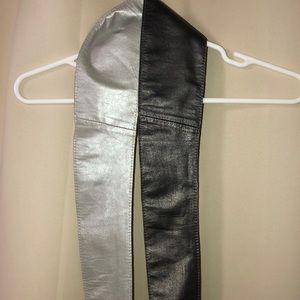 High end quality leather belt sash